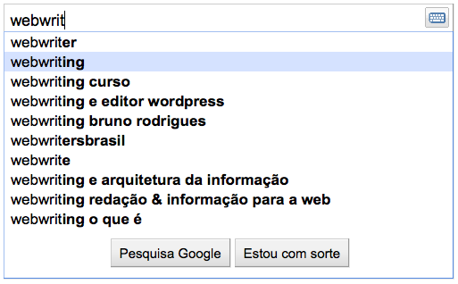 Como um webwriter pode identificar temas e palavras-chaves relevantes para o seu público-alvo a partir do Google Suggest.