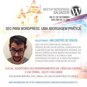 """Palestra """"SEO para Wordpress: uma abordagem prática"""" (Otimização de Sites (SEO) )"""