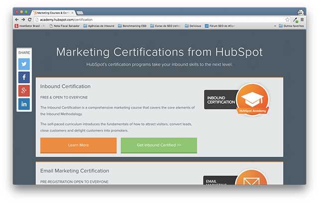 Certificação em Inbound Marketing, um certificado HubSpot (Marketing Digital )